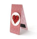 Magnetische Boekenlegger, Taart, hart, Rood