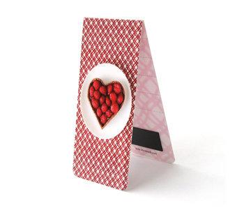 Magnetisches Lesezeichen, Kuchen, Herz, Rot