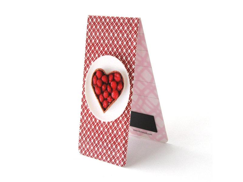 Signet magnétique, Gâteau, coeur, Rouge