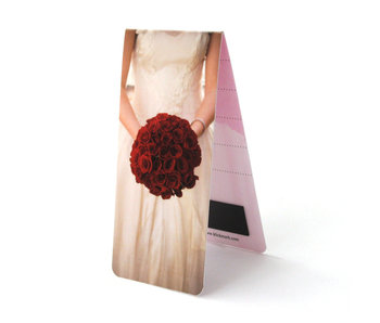 Magnetisches Lesezeichen, Hochzeit, Rose