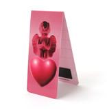Marque-page magnétique, ange et coeur