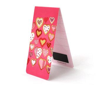 Marque-page magnétique, biscuits en forme de coeur