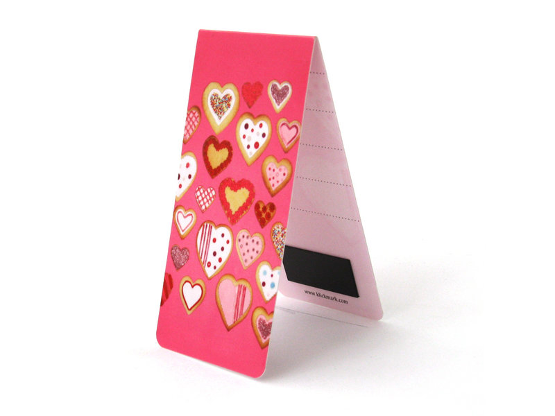 Magnetic Bookmark, Heart shaped cookies