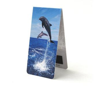 Marque-page magnétique, dauphins