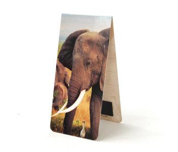 Marque-page magnétique, éléphant d'Afrique
