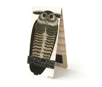 Marque-page magnétique, hibou, illustration