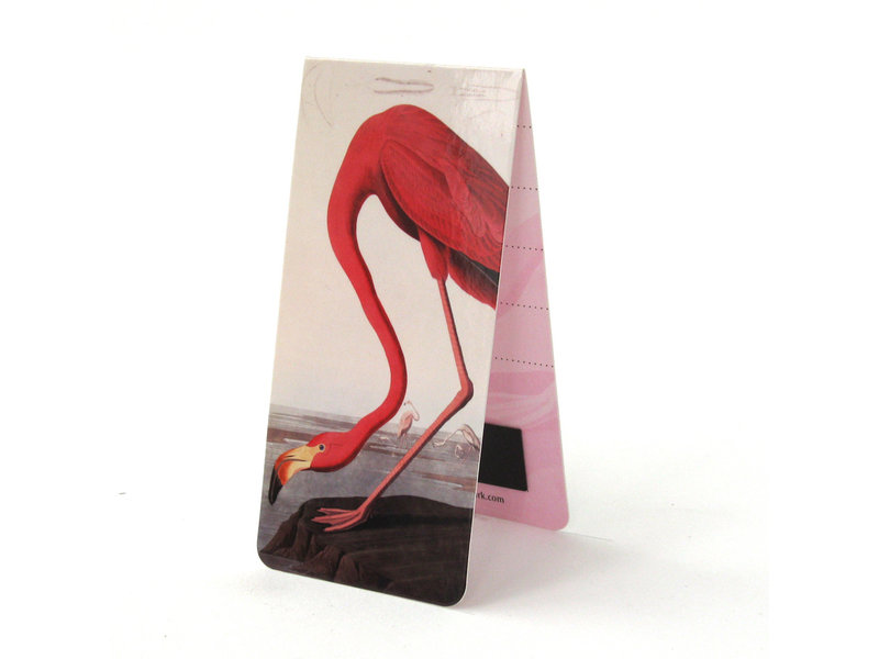 Marcapaginas magnético, J.J. Audubon, Flamingo