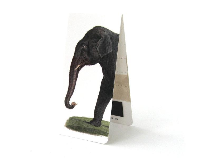 Marque-page magnétique, éléphant d'Asie