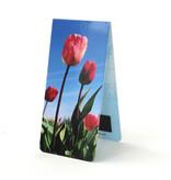 Marque-page magnétique, champ de tulipes