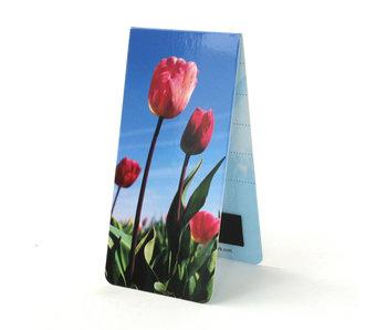 Marcador magnético, campo de tulipanes