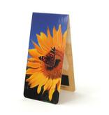Marque-page magnétique, tournesol avec papillon