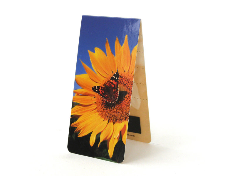 Magnetic Bookmark, Sunflower with butterfly