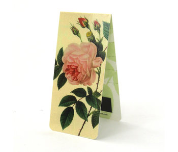 Magnetic Bookmark, Pink rose