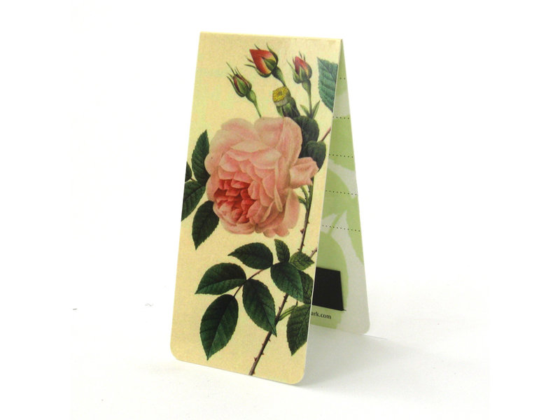 Magnetic Bookmark, Pink rose