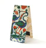 Marque-page magnétique, paon, poterie