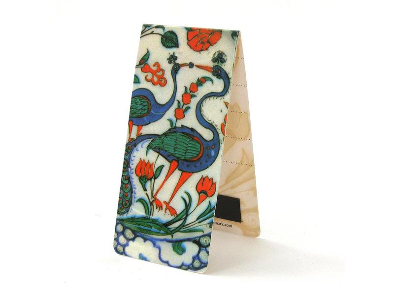 Magnetisches Lesezeichen, Pfau, Keramik