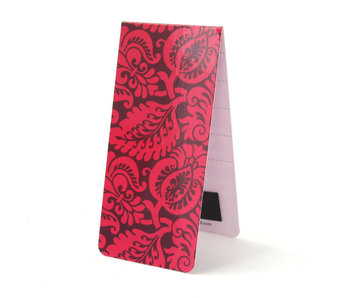 Marque-page magnétique, motif, fleurs roses
