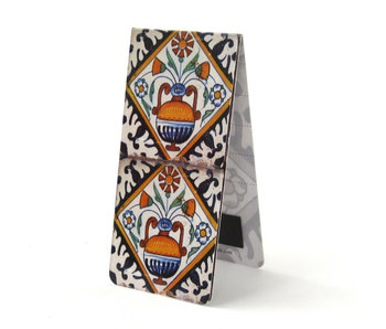 Magnetic Bookmark, Two Delft blue tiles