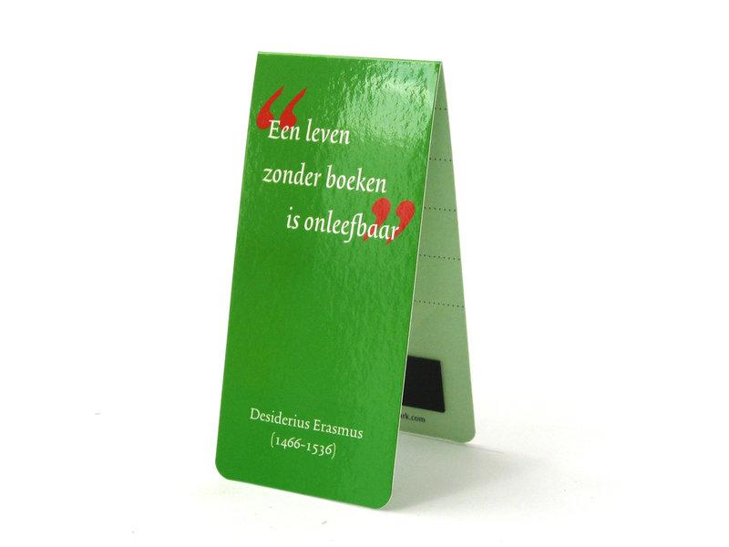 Magnetic Bookmark,  Dutch quote, D. Erasmus
