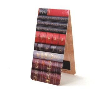 Marcapaginas magnético, pila de libros