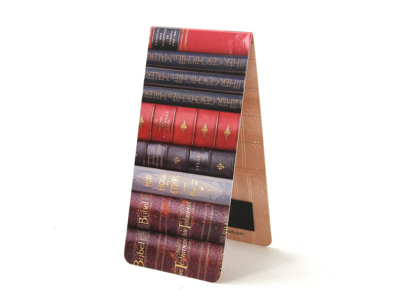 Magnetisches Lesezeichen, Bücherstapel