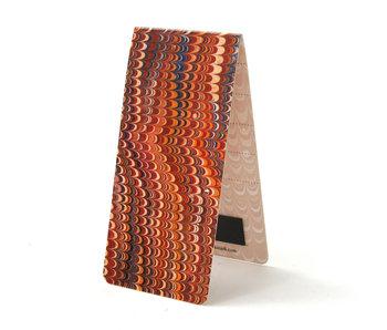 Magnetisches Lesezeichen, marmoriertes Papier