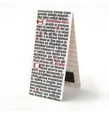 Magnetic Bookmark, Bible, calligraphy