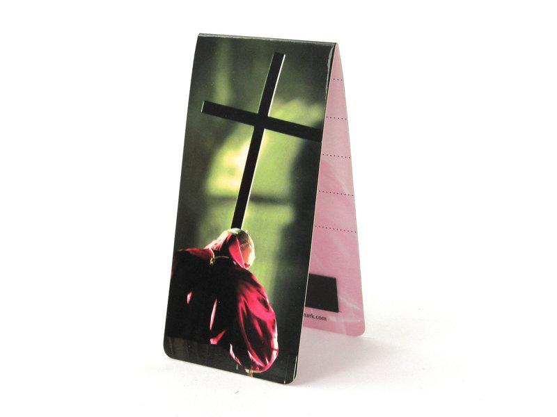 Marque-page magnétique, pape avec croix