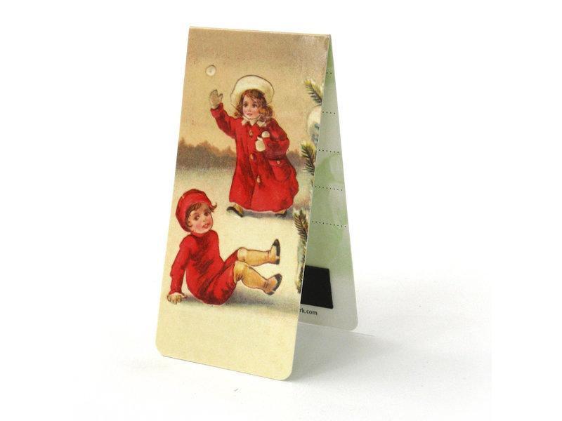Magnetic Bookmark, Snow fun