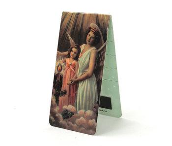 Marcapaginas magnético, ángel con niño