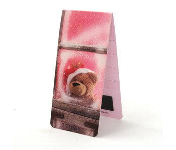 Marcador magnético, oso de Navidad