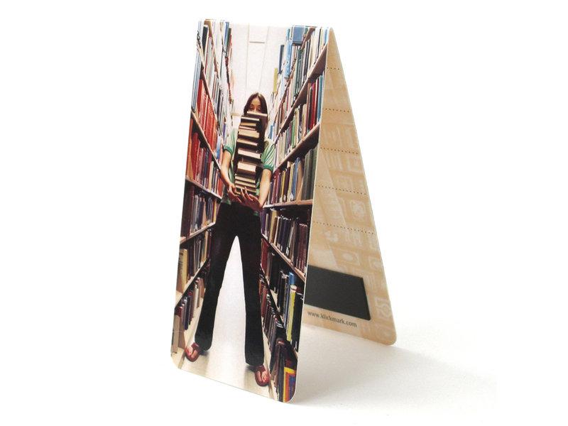 Magnetic Bookmark, Girl holding books