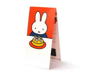 Marque-page magnétique, Miffy avec gâteau
