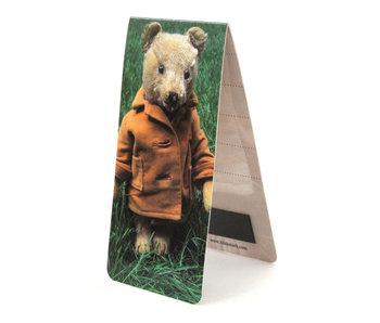 Marcador magnético, oso de peluche, hierba