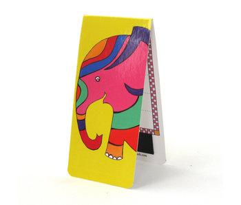 Magnetic Bookmark, Elephant, illustration
