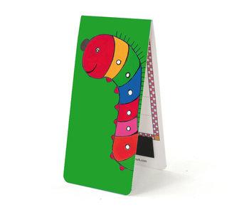 Magnetische Boekenlegger, Rups, Illustratie