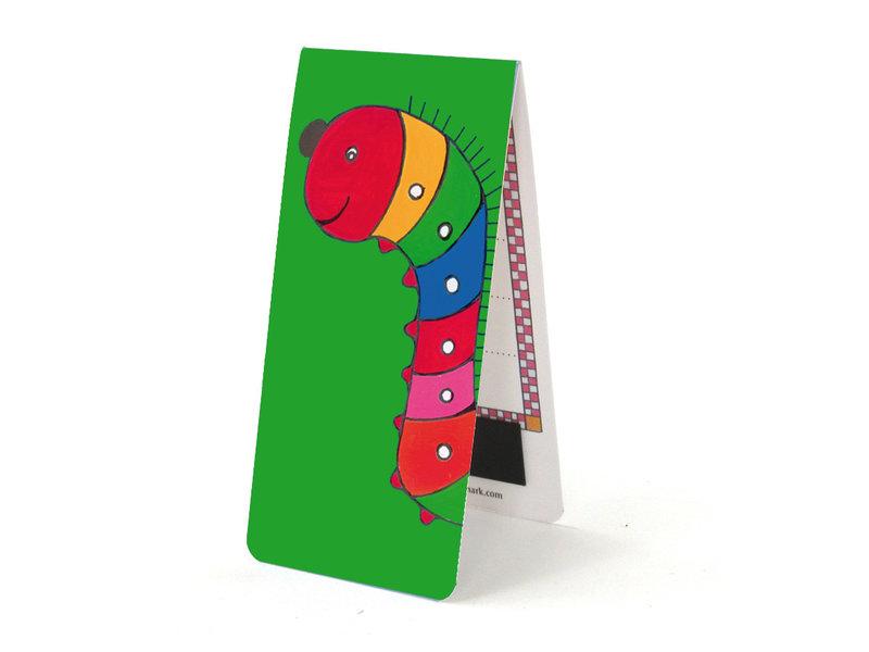 Magnetisches Lesezeichen, Raupe, Illustration