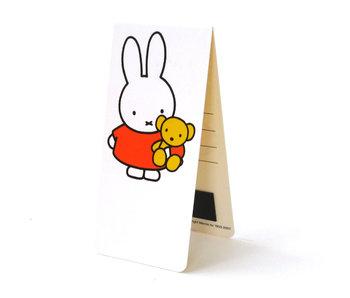 Marque-page magnétique, Miffy avec ours en peluche