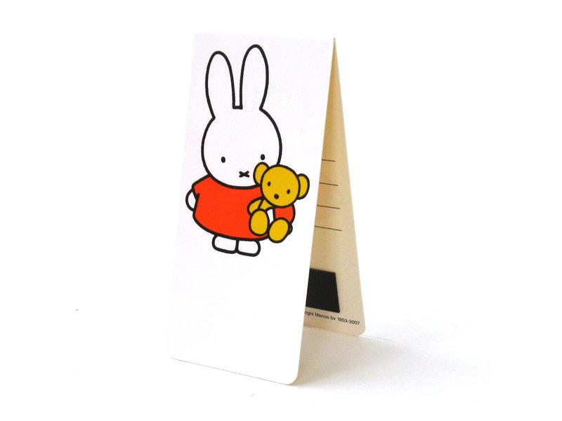 Magnetische boekenlegger , Nijntje met teddybeer