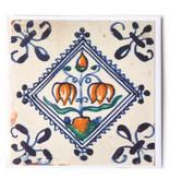 Card, Delft Blue Tile, Flower Bulb