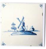 Doppelkarte, Delfter blaue Fliese, Mühle