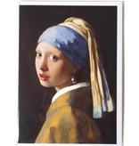 Double carte avec enveloppe, Fille avec une boucle d'oreille perle, Vermeer