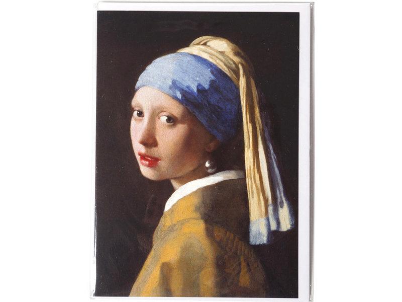Dubbele kaart met enveloppe, Meisje met de parel, Vermeer