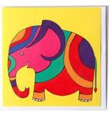 Doble tarjeta, Elefante, H. Simon, ilustración aria