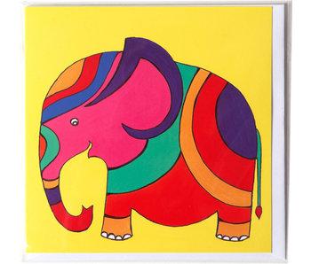 Double carte, Elephant, H. Simon, illustration aria