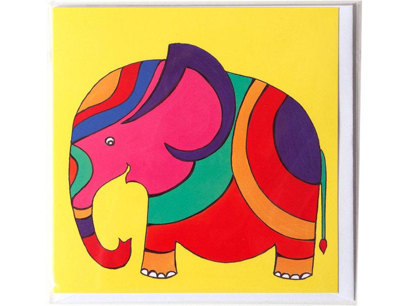 Doppelkarte, Elefant, H. Simon, Illustrationsarie