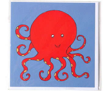 Card, Octopus, H.Simon, illustration aria