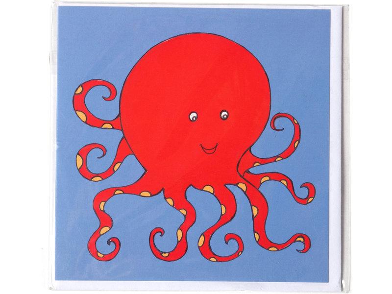 Dubbele kaart, Octopus, H.Simon, illustratie aria