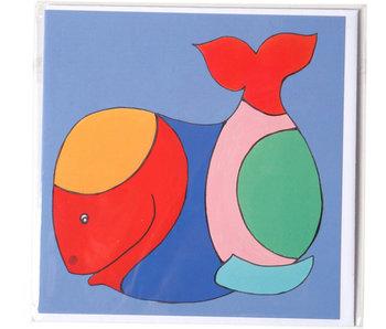 Doble tarjeta, Ballena, H. Simon, Ilustración aria