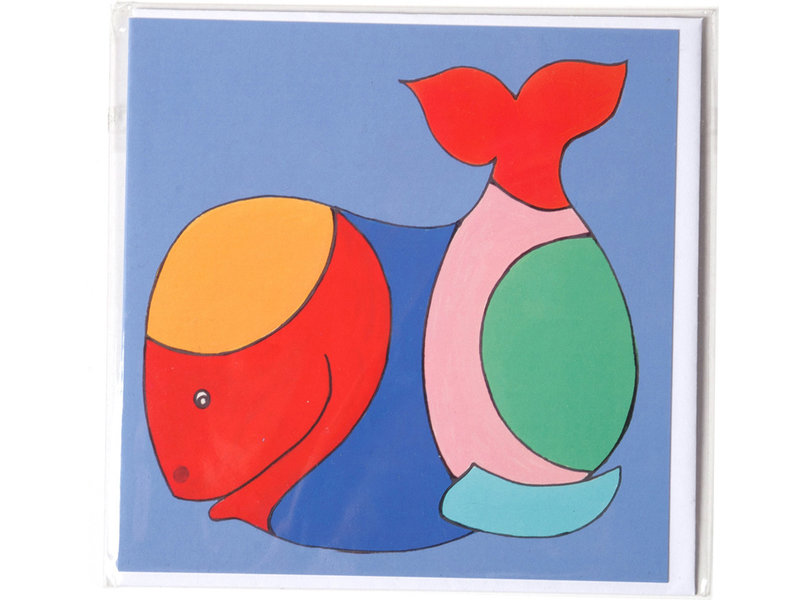 Card, Whale, H. Simon, illustration aria